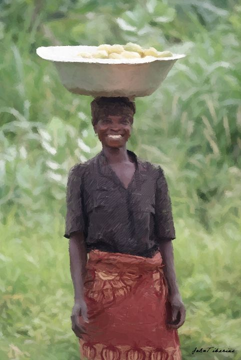 African woman - John Tiberius aka Johny Rebel