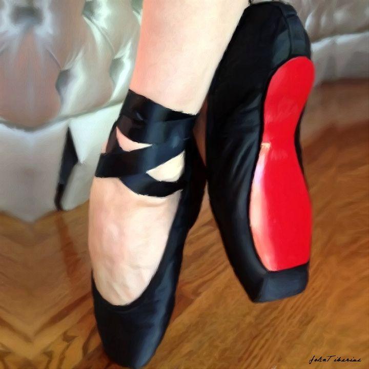 Black ballerina flats - John Tiberius aka Johny Rebel