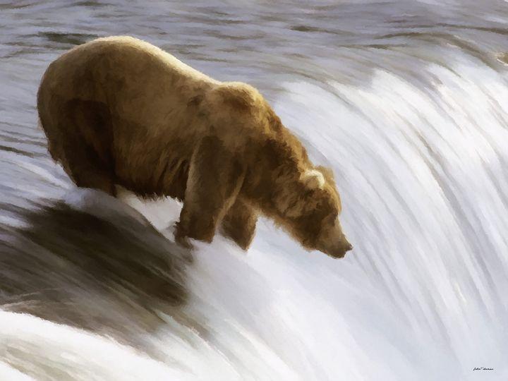 Fishing Grizzly - John Tiberius aka Johny Rebel
