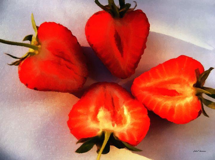 Cut in half strawberries - John Tiberius aka Johny Rebel