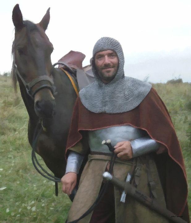 Medieval mercenary soldier portrait - John Tiberius aka Johny Rebel