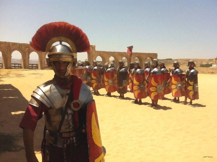 Roman guards in the old Judea - John Tiberius aka Johny Rebel