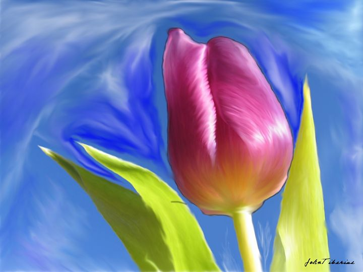 Tulip alone - John Tiberius aka Johny Rebel