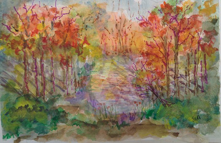 Autumn Scene - Art By Judi