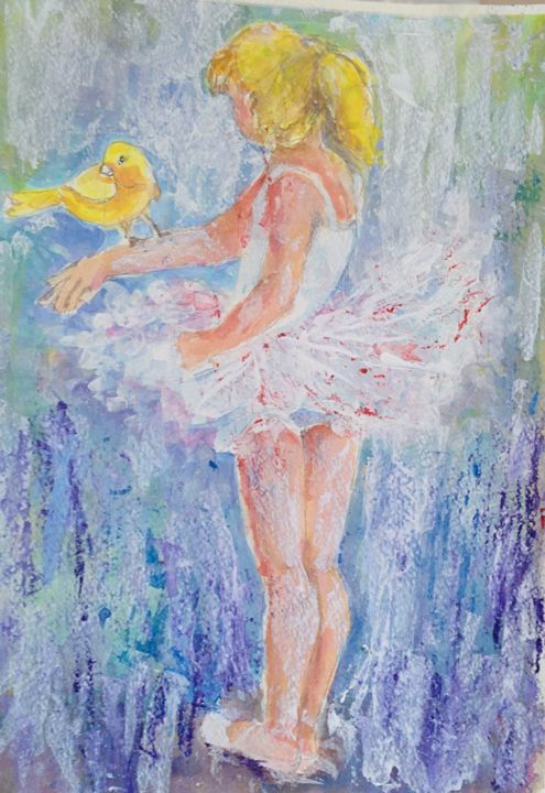 Young Dancer With Canary - Art By Judi