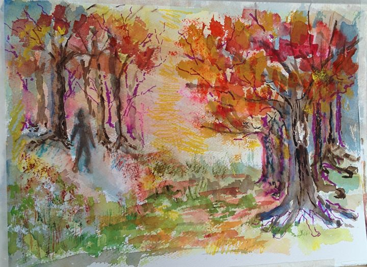 Vibrant Trees - Art By Judi