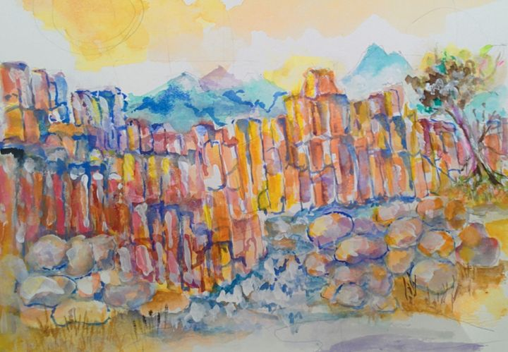 Rocky Canyon - Art By Judi