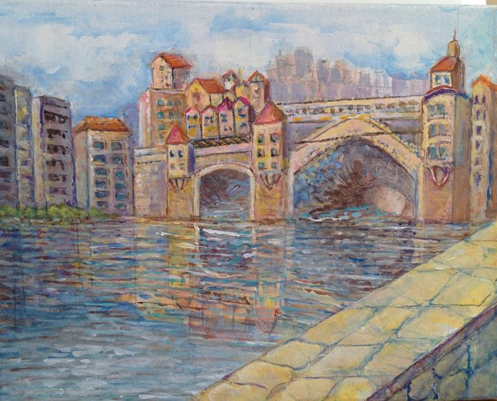 Ponte Vecchio Interpreted - Art By Judi