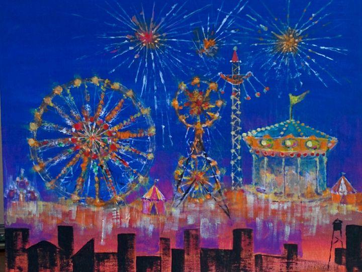 Night Carnival - Art By Judi