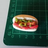 hot dog with diced pickle