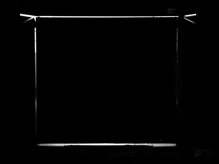 Black Glowing Square - Oleg Sotnik