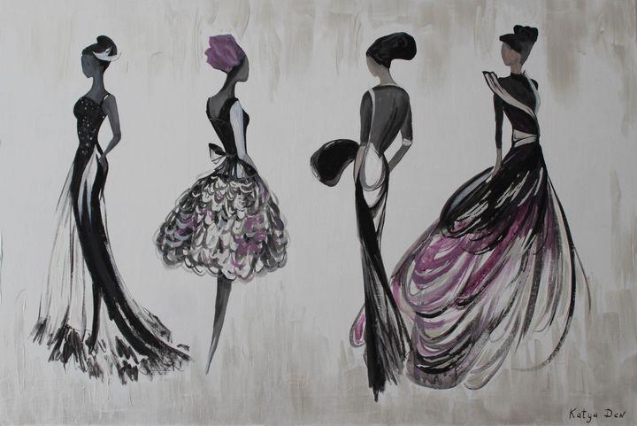 Podium Girls - Elena Resh art