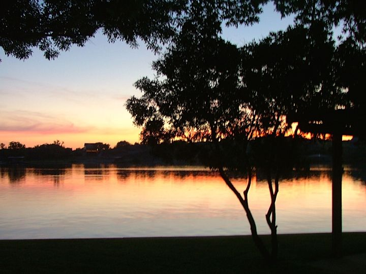 Lake Living at dusk - Art in Life