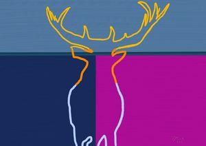 Elk in Twilight