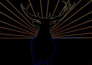 Bull Elk on the Horizon
