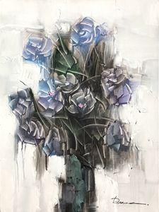 """Flowers - Deng Ren 29x39"""""""