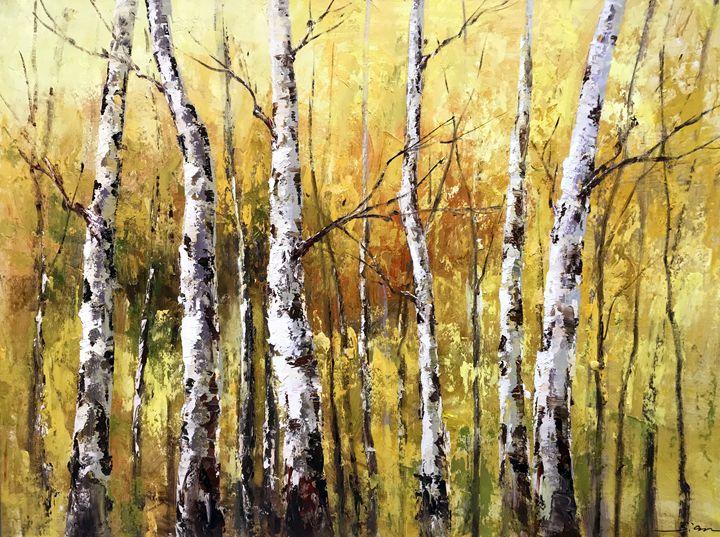 Yunajian Wang 228 Birch trees - Gallery Hi Art