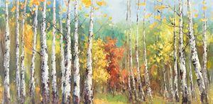 "Birch trees 30×58"" - Gallery Hi Art"
