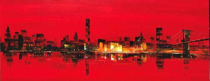 Guojin Yang 630 New York Skyline - Gallery Hi Art