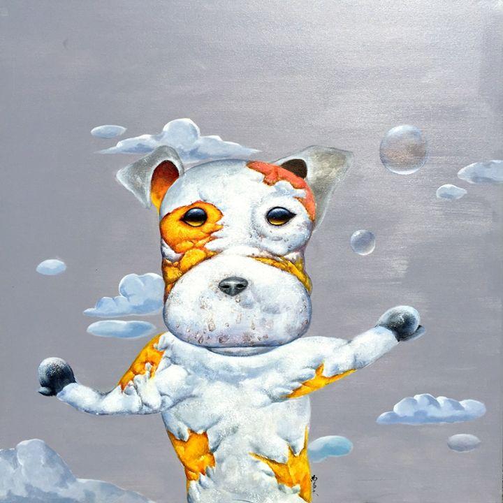 """Dog - Guo Zeng 39x39"""" - Gallery Hi Art"""