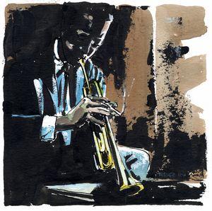 Jazz Series # 11, trumpet player - Pascal Fessler