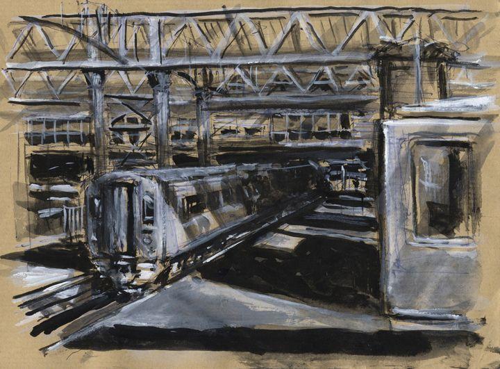 Waterloo strain station, London - Pascal Fessler - Paintings