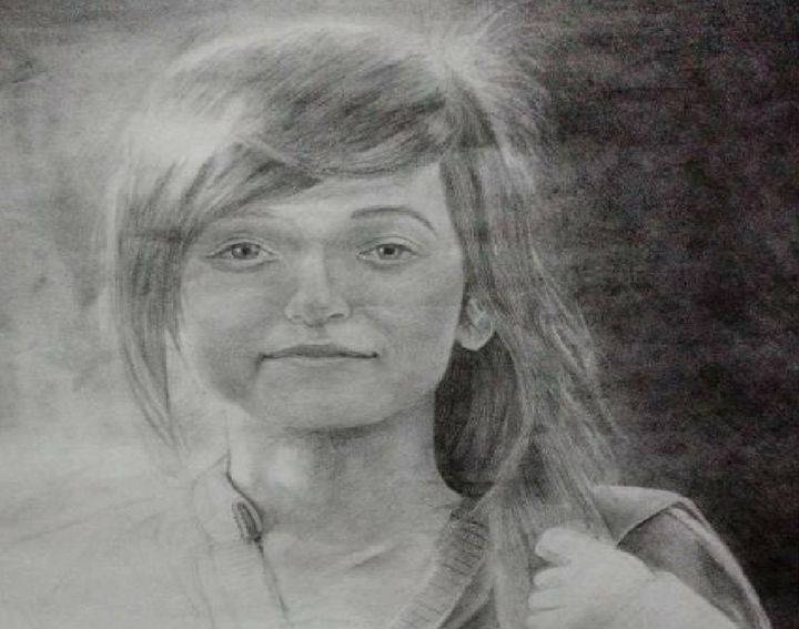 Sherry with All Smiles - Nepal Gallery (Pencil Sketches)