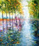 Impressionist oil painting