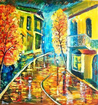 Night shower - Bableshwar's ArtWorks