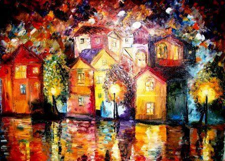 Night after the Shower-Original Sold - Bableshwar's ArtWorks
