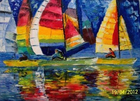Colourful Yatch Race - Bableshwar's ArtWorks