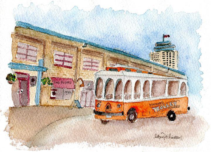 Winnipeg's Trolley at The Forks - LorenaThiessen