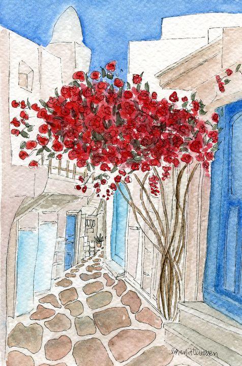 Flowers in Greece - LorenaThiessen