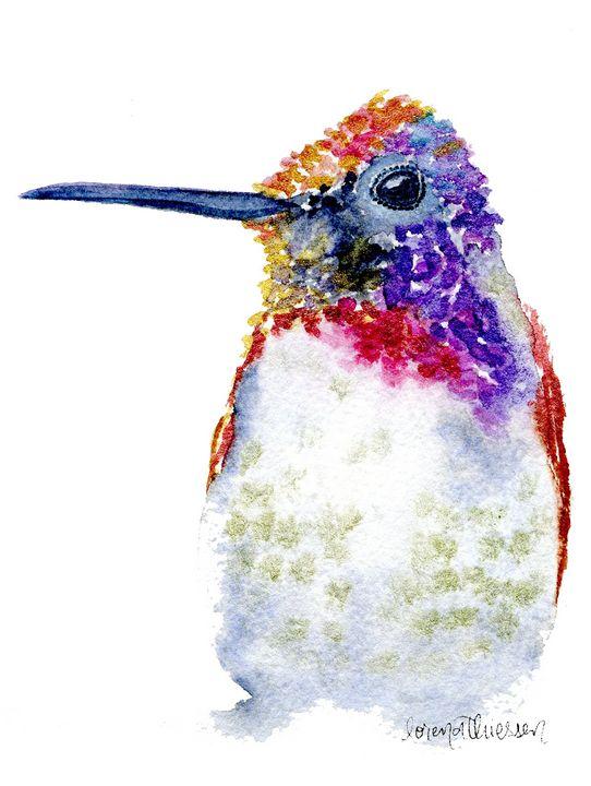 the fiery throated colibri - LorenaThiessen