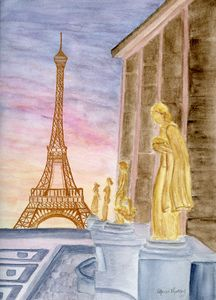 Palais Chaillot and the Eiffel Tower