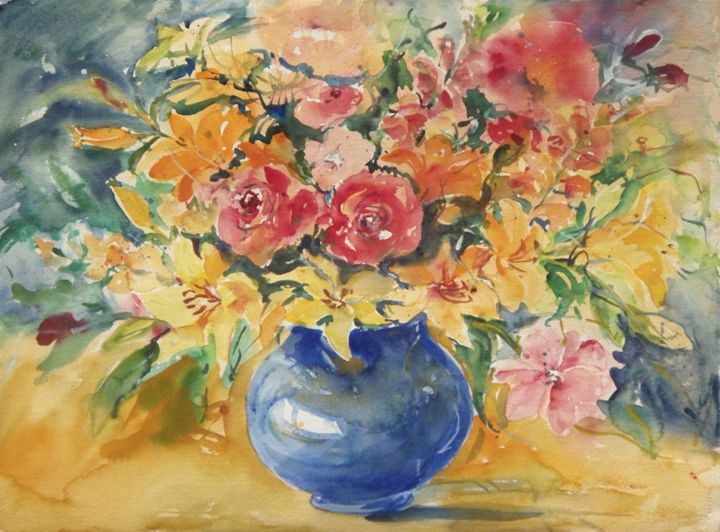The Blue Vase - Ingrid Dohm