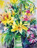 30 x 22 floral watercolor