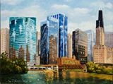 Acryic Cityscape painting