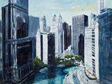 Acrylic Cityscape painting