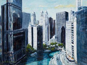 Wacker Drive, Chicago IL, - Ingrid Dohm