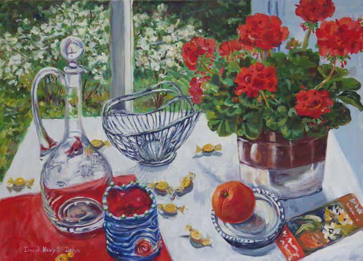 Red Geraniums - Ingrid Dohm