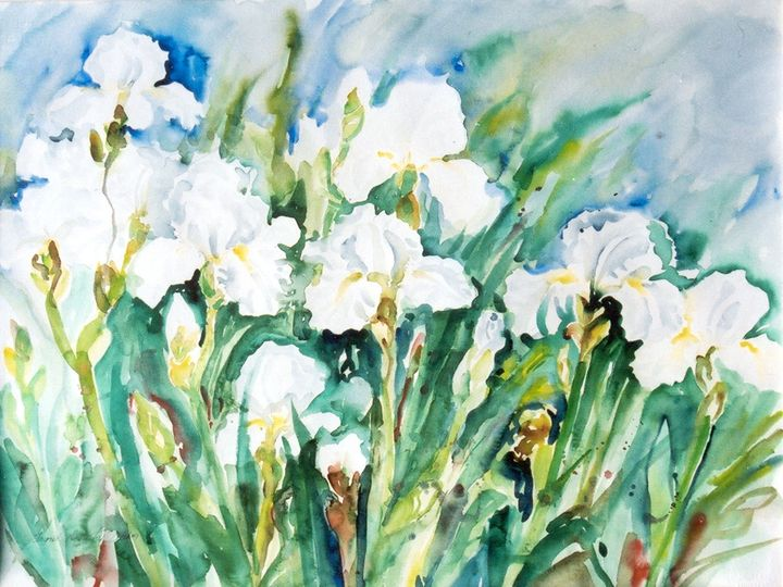 White Irises - Ingrid Dohm