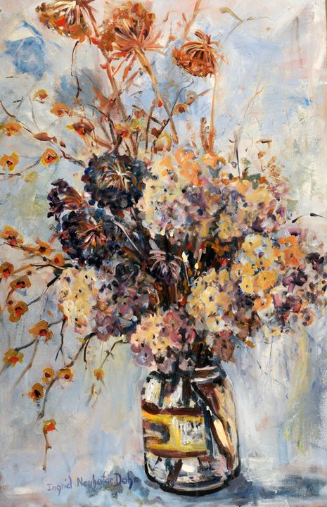 Dried Flowers in a Pickle Jar - Ingrid Dohm