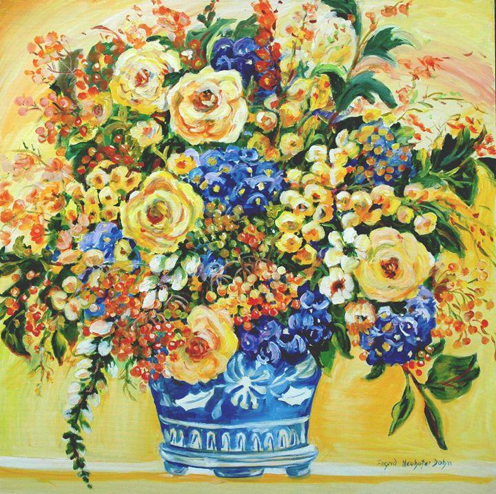 Blue Ceramic Vase - Ingrid Dohm