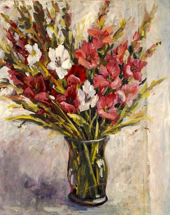 Red Gladiolas - Ingrid Dohm
