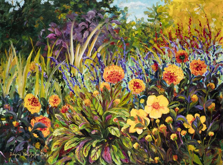 Dahlias in the Field - Ingrid Dohm