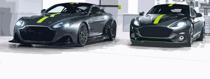 Aston Martin Racing twins. - THE SPEED ART