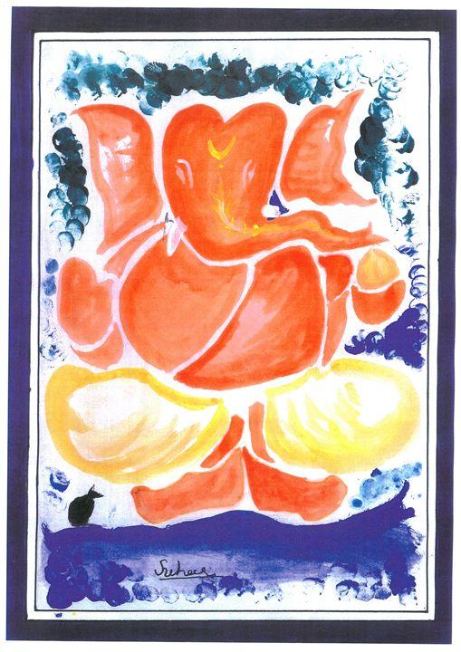 shree ganeshji krupavant - BEAUTIFUL PAINTINGS FOR ALL.........
