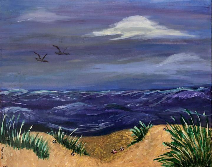 Stormy Ocean view - Art by Langston Studios