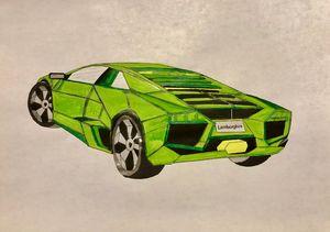 Neon green Lambo